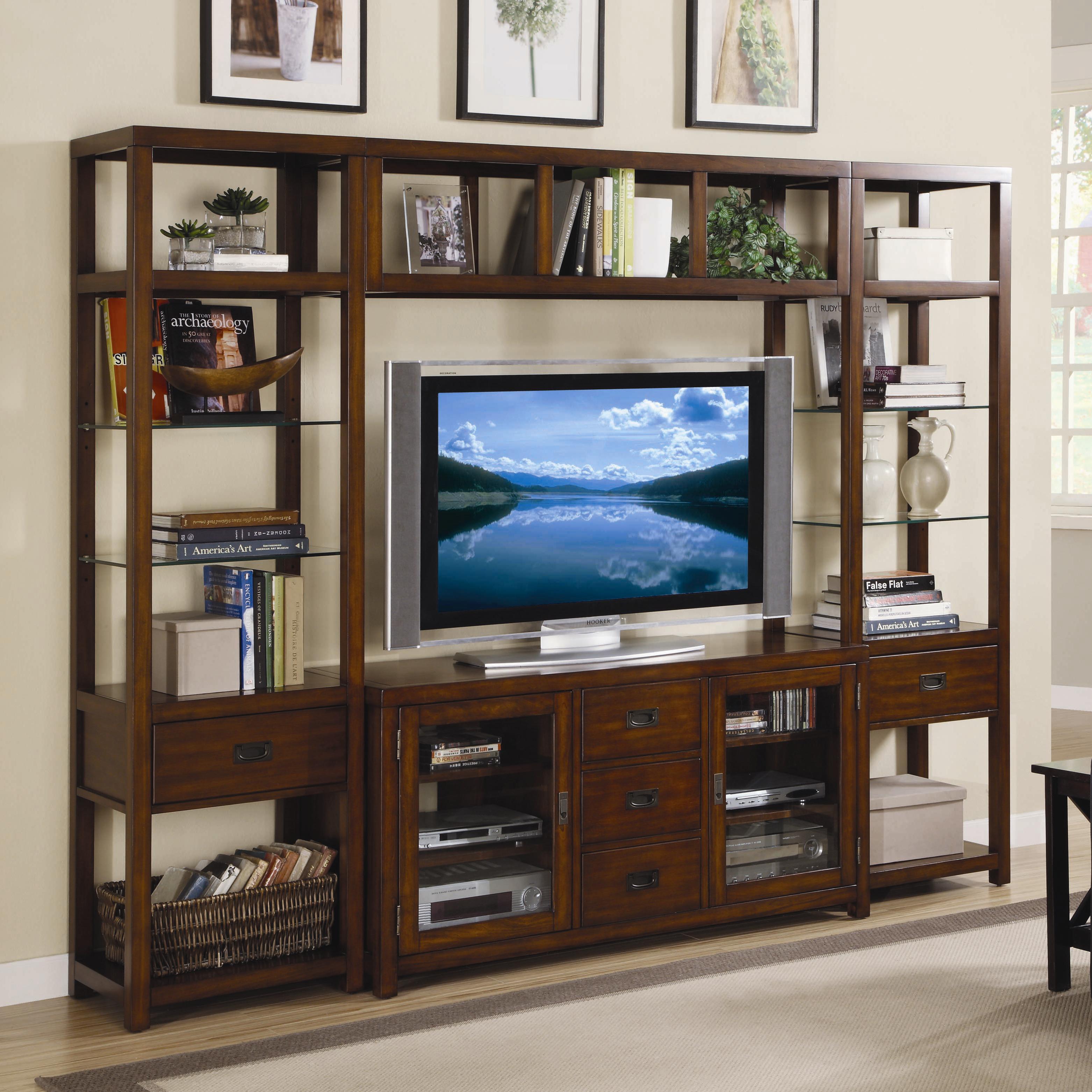 wall units hooker furniture danforth wall unit - item number: 388-70-641+2x450 VUAYCGP