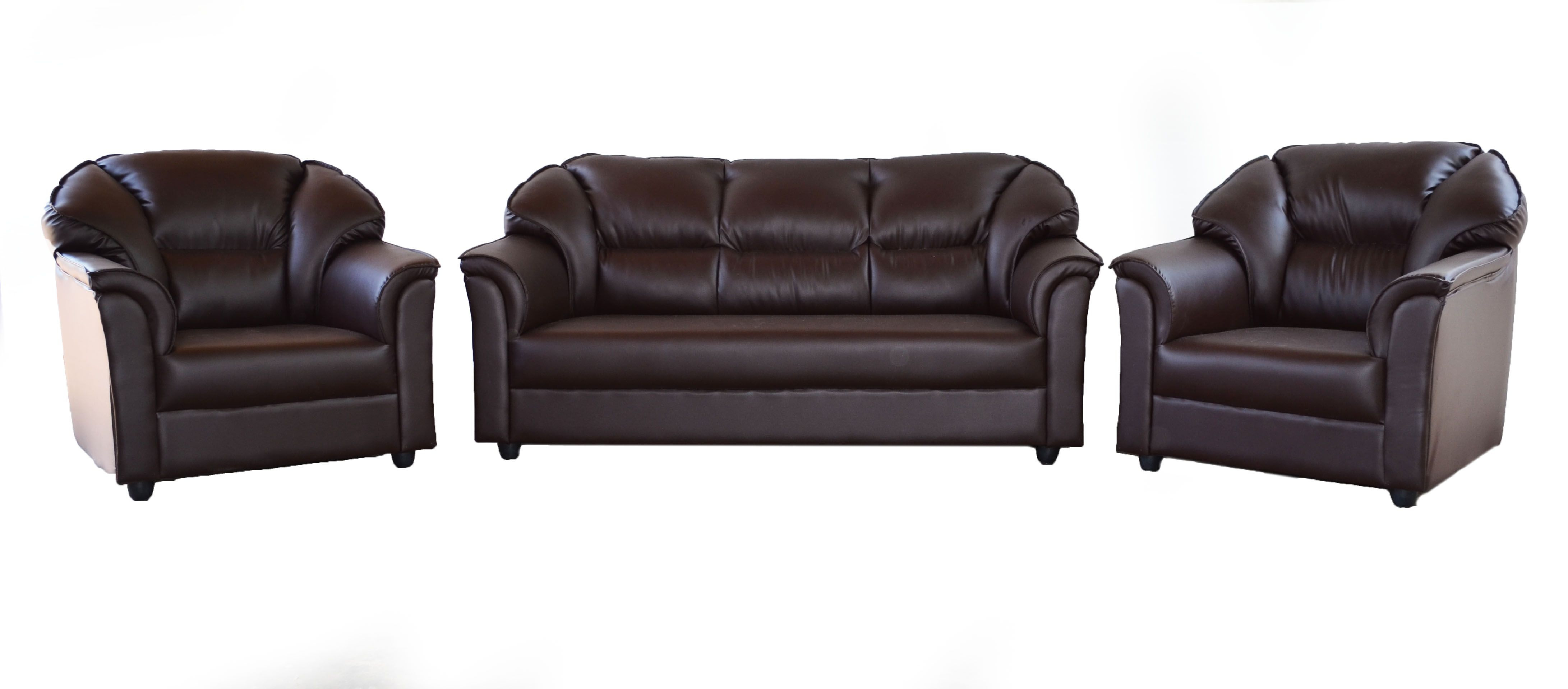 westido manhattan brown 3 1 seater sofa set MZTOEHT