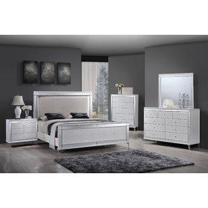 white bedroom furniture panel 4 piece bedroom set DTOVNAL