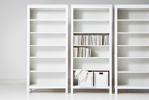 White bookshelves for your house