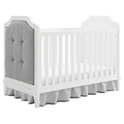 white cribs baby relax luna 3-in-1 upholstered crib - white TWBLWUK