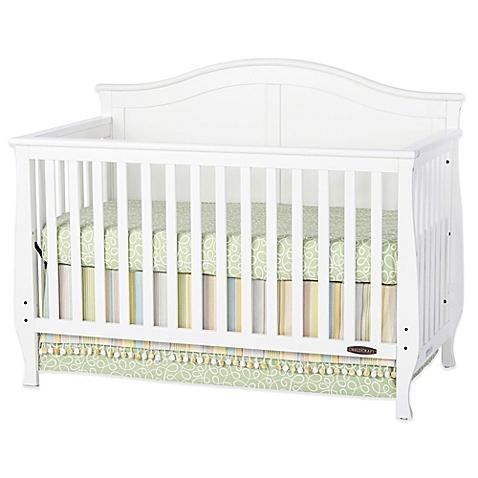 white cribs child craftu0026trade; camden 4-in-1 convertible crib in white RVPZDHV
