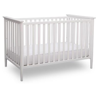 white cribs delta children greyson 3-in-1 convertible crib JTJCAWM