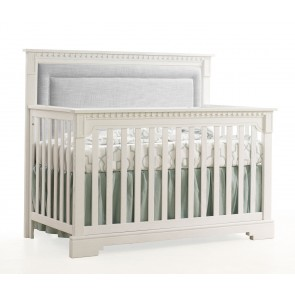 white cribs ithaca collection 4 in 1 convertible crib in white with upholstered panel IXDAMJF