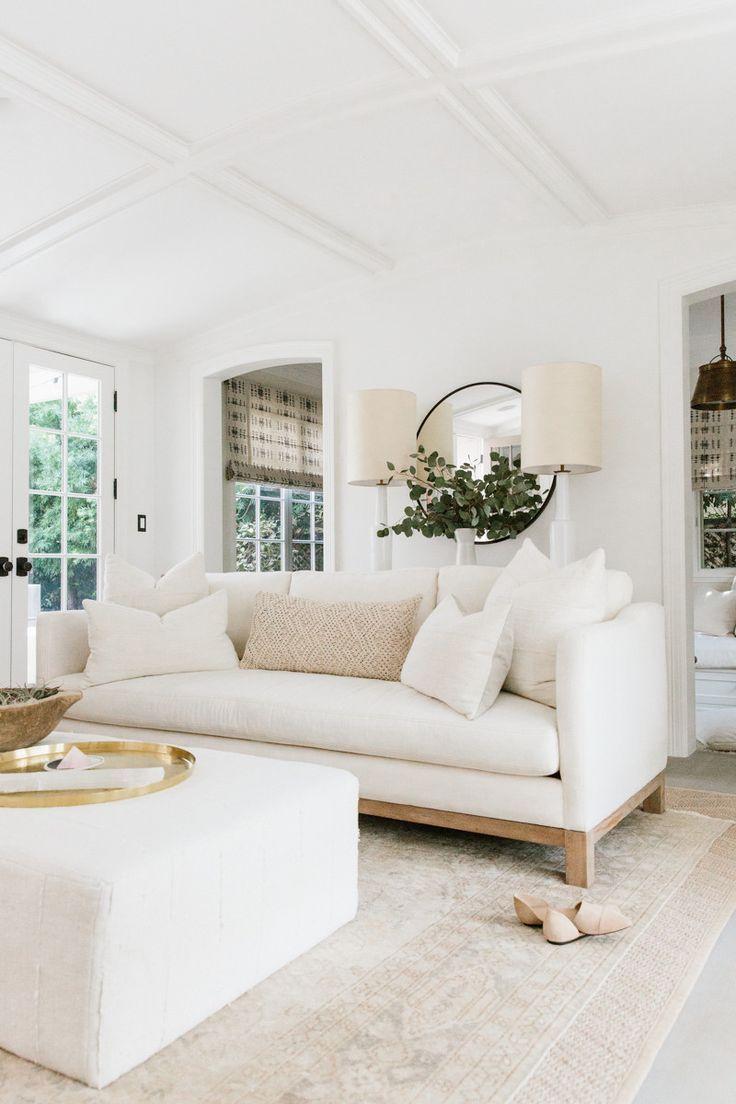 white living room erin fetherstonu0027s california home neutral family room. ivory living room,  white ... UKDKHYZ