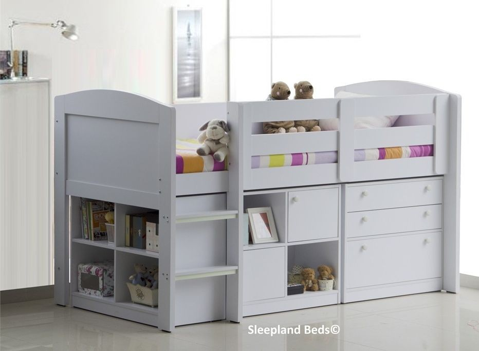 white neptune childrens beds with storage ... AIYYNFX