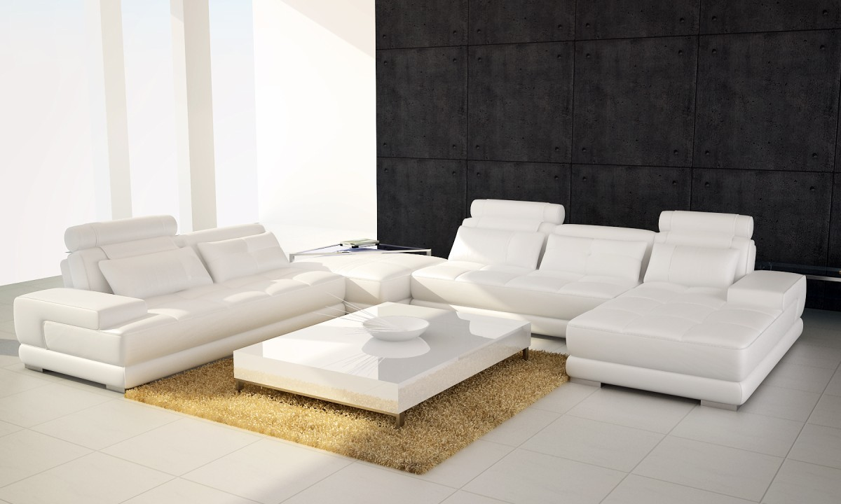 white sectional sofa modern leather sectional sofa 5005 GZZYPMI