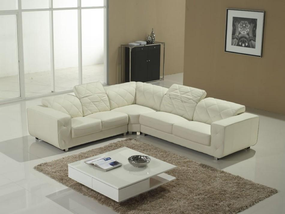 white sectional sofa v-23 TGJKOTT