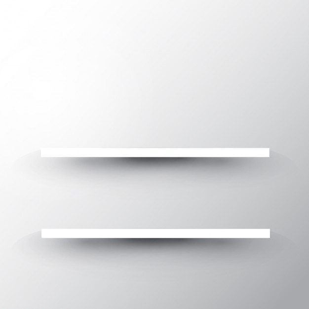 white shelf two shelves on a white wall background free vector XUZYGLZ