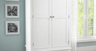 white wardrobes harper white solid wood 2 door 1 drawer wardrobe QYTFGVT
