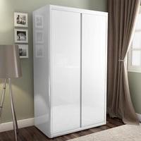 white wardrobes lexi white high gloss double wardrobe with gloss doors YBEWZDB
