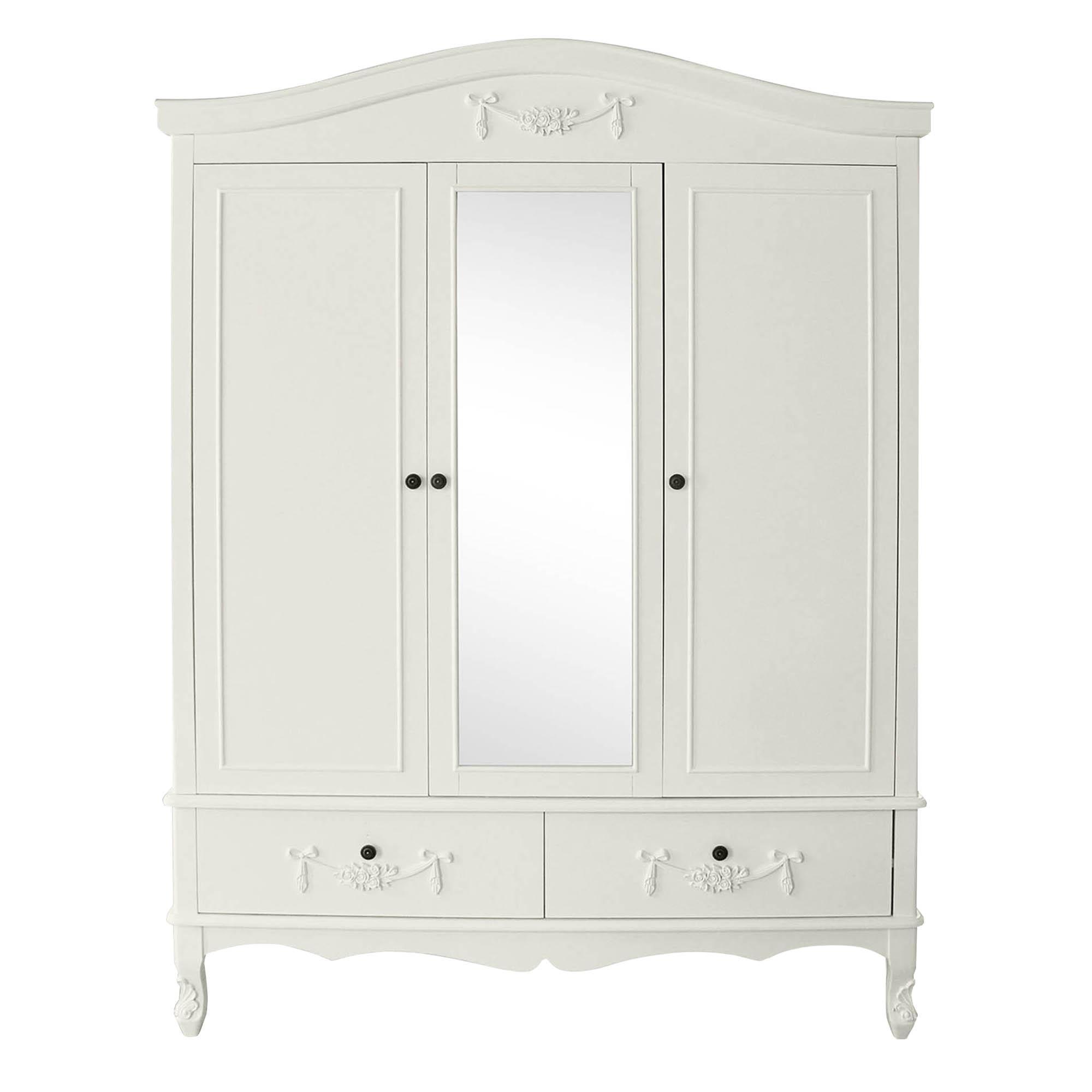 white wardrobes toulouse white triple wardrobe. loz_exclusive_to_dunelm WVVPLSG