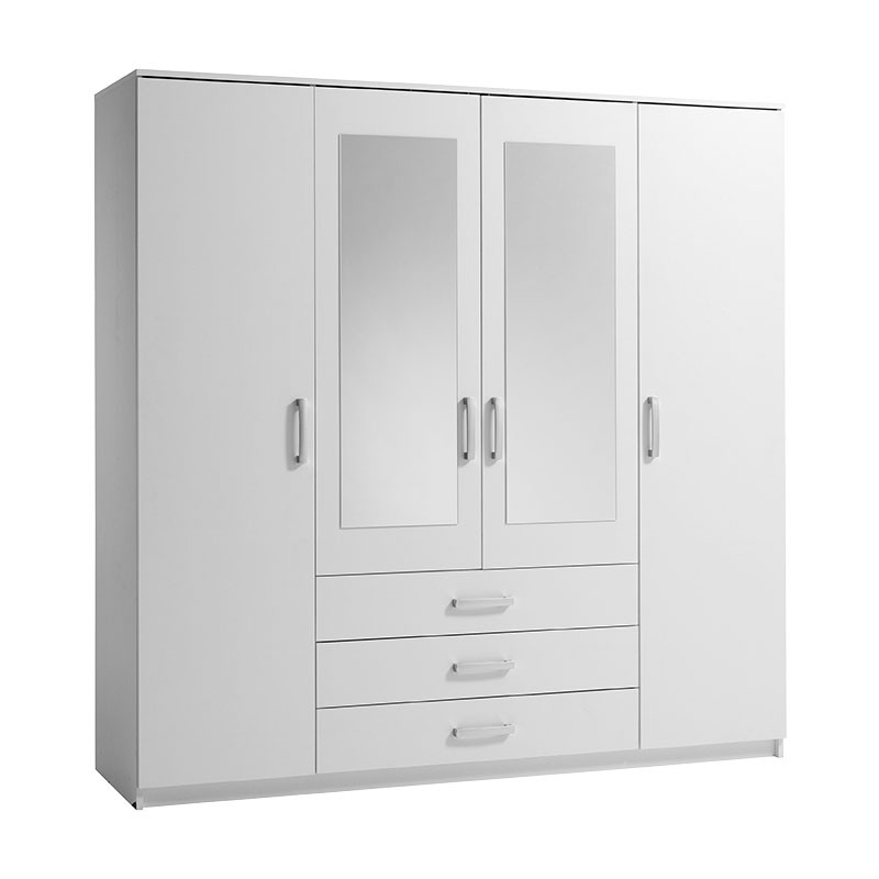 white wardrobes vinderup 4 door wardrobe (white) WLSMNTQ