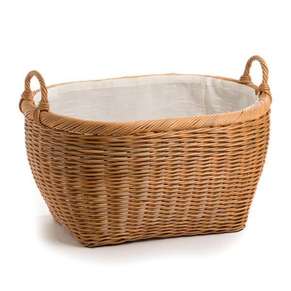 wicker laundry basket ... the basket lady oval laundry basket toasted oat jumbo (size 1); oval ANLCQOD