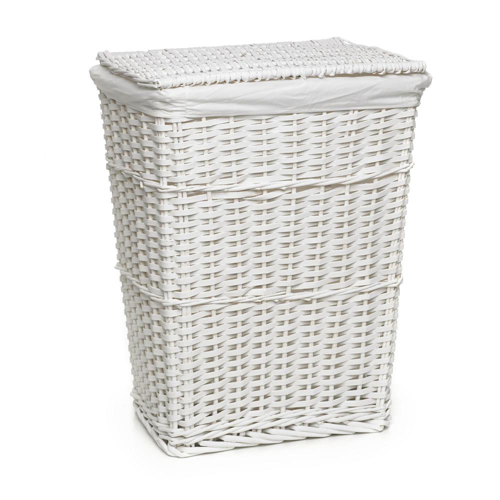 wicker laundry basket wilko split wood laundry hamper white LJZIYXO