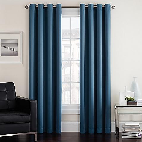 window drapes image of twilight room darkening grommet window curtain panel OBHEHQY