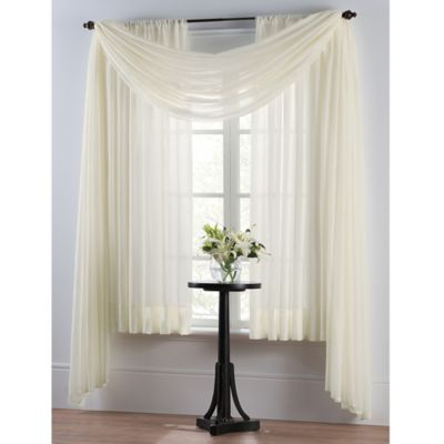 window drapes smart sheer™ insulating voile 63-inch window curtain panel in ivory GVBSBCV
