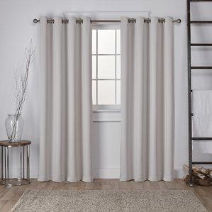window drapes tamara solid room darkening grommet curtain panels (set of 2) CNODVKB