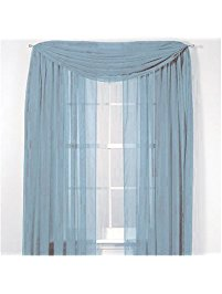 window scarves luxurydiscounts beautiful elegant solid slate blue sheer scarf valance  topper 37 SEKRKKI