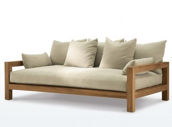 wood sofa honore chaise PKABANY