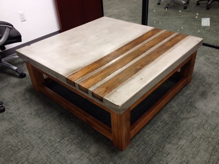 wooden coffee tables concrete and cedar wood coffee table. great for your home or office. MNZONHV