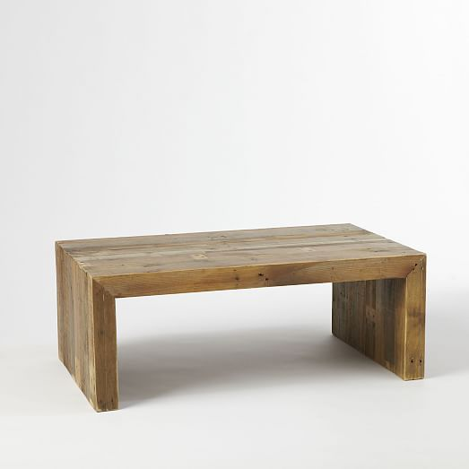 wooden coffee tables emmerson reclaimed wood coffee table | west elm YBYONHH