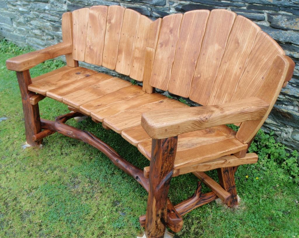 wooden garden benches rustic MKQQIFQ