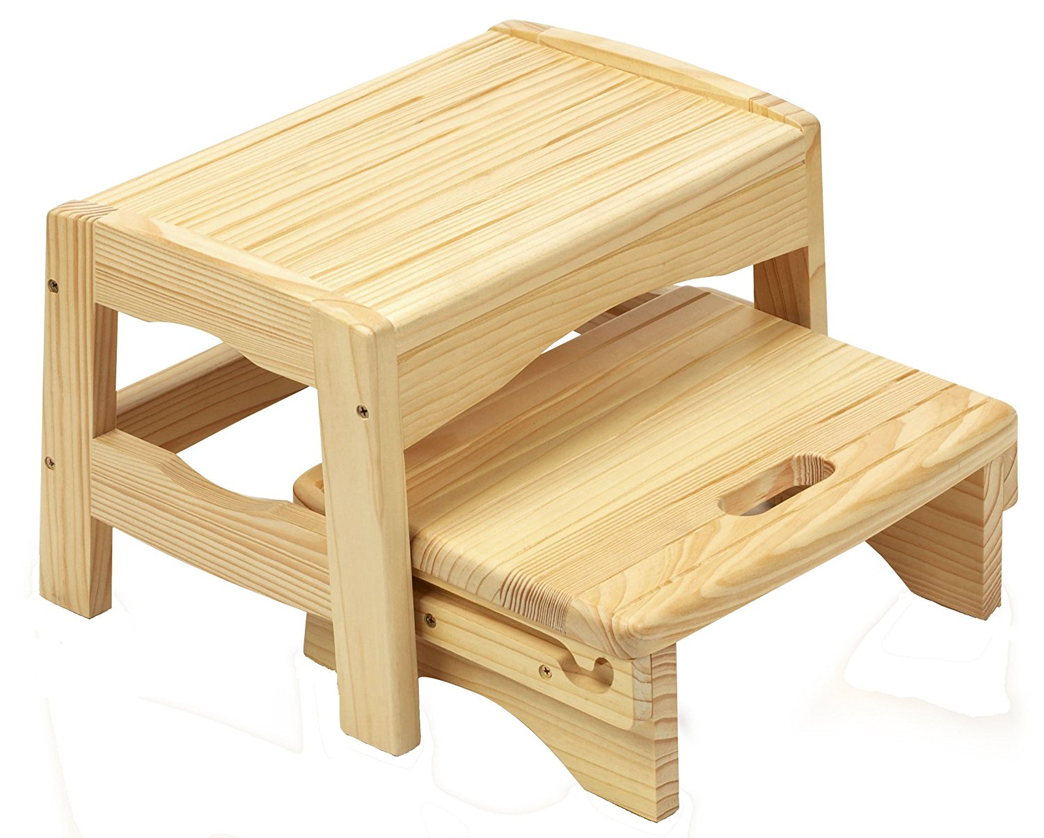 wooden step stool amazon.com : safety 1st wooden two step stool : toilet training step stools PVFWKWV