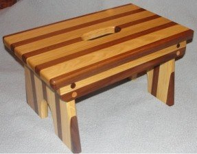wooden step stool wood step stool - walnut and oak WIXLYAP