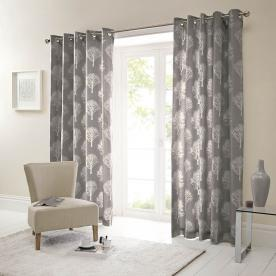 woodland ready made lined eyelet curtains YMCPDYS