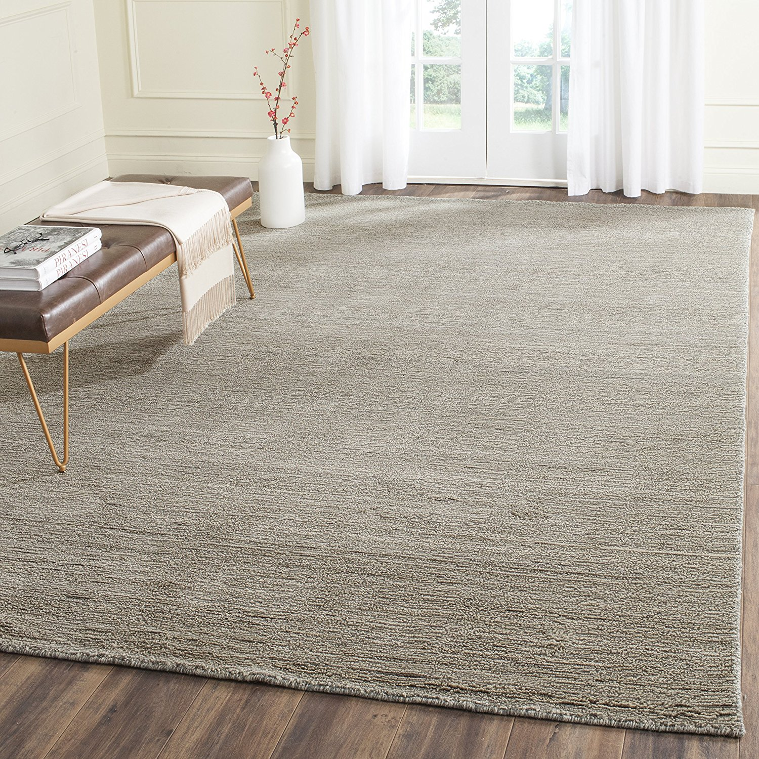 wool area rugs amazon.com: safavieh himalaya collection him311d handmade grey premium wool  area rug (6u0027 LDTSFXO