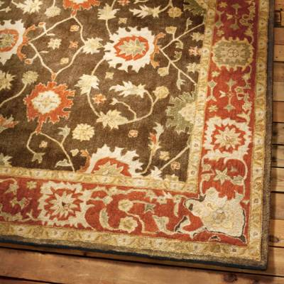 wool area rugs deerfield wool area rug | grandin road TGWPRYP