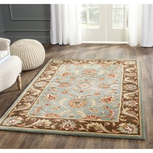 wool rugs cranmore hand-tufted blue/brown area rug BCBCIRU