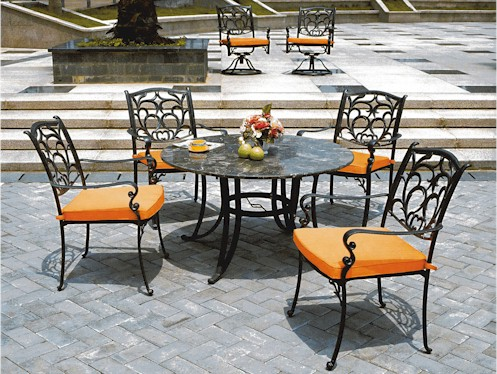 wrought iron patio furniture LPDXKVW