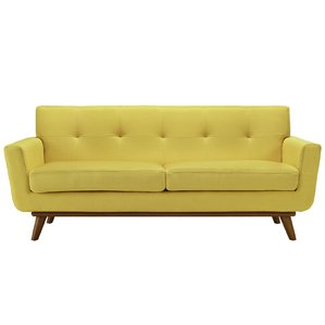 yellow sofa johnston tufted upholstered sofa MXOFDLD