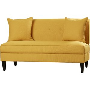 yellow sofa perseus loveseat KRXPDZL