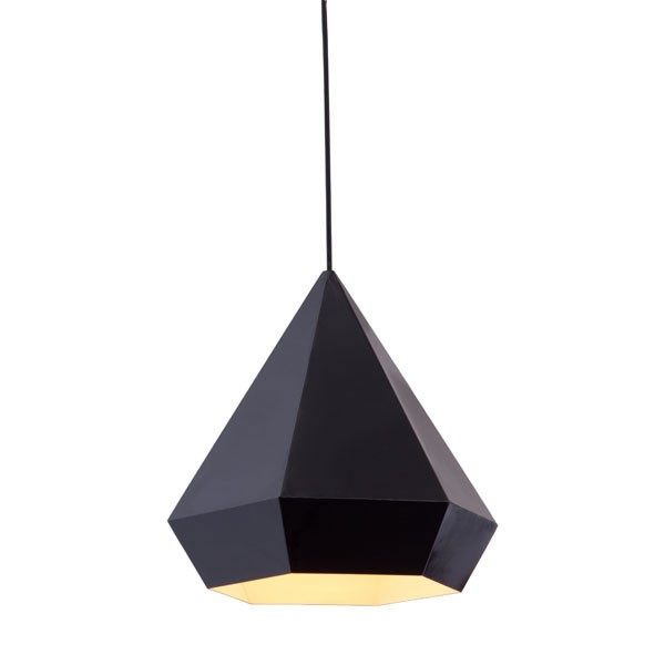 zuo modern forecast ceiling lamp in black GFUTNMY