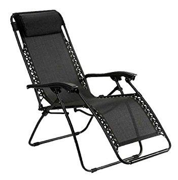 Reclining Garden Chairs metal u0026 textilene reclining relaxer garden chair / sunlounger - black DIODTDP