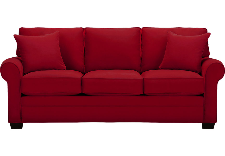 Red Sofa cindy crawford home bellingham cardinal sofa - sofas (red) LWVZILD