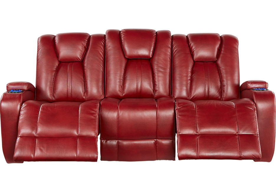 Red Sofa kingvale red power reclining sofa - sofas (red) HEQLEUJ