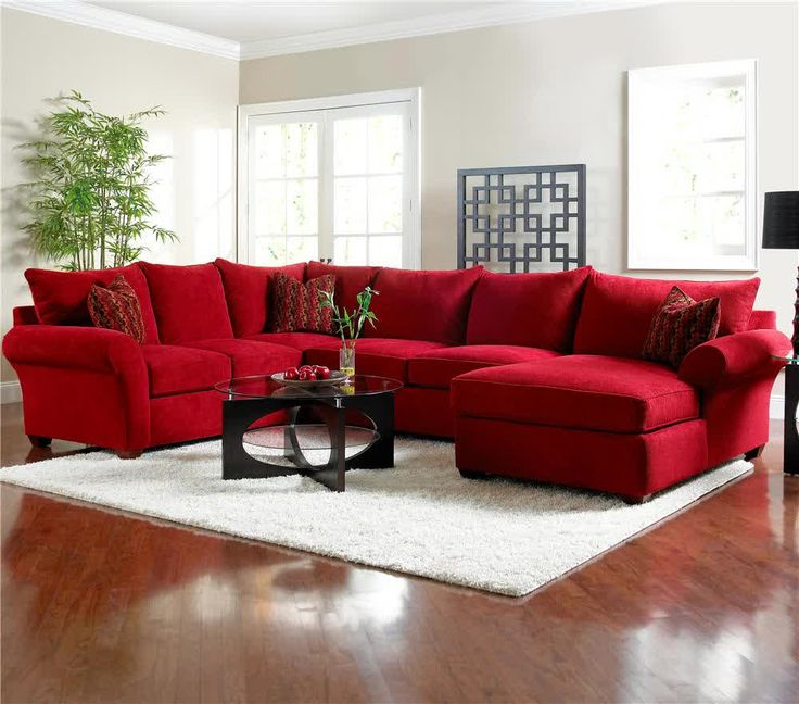 Red Sofa picture of red microfiber sectionals highlight your living room EQDZALQ