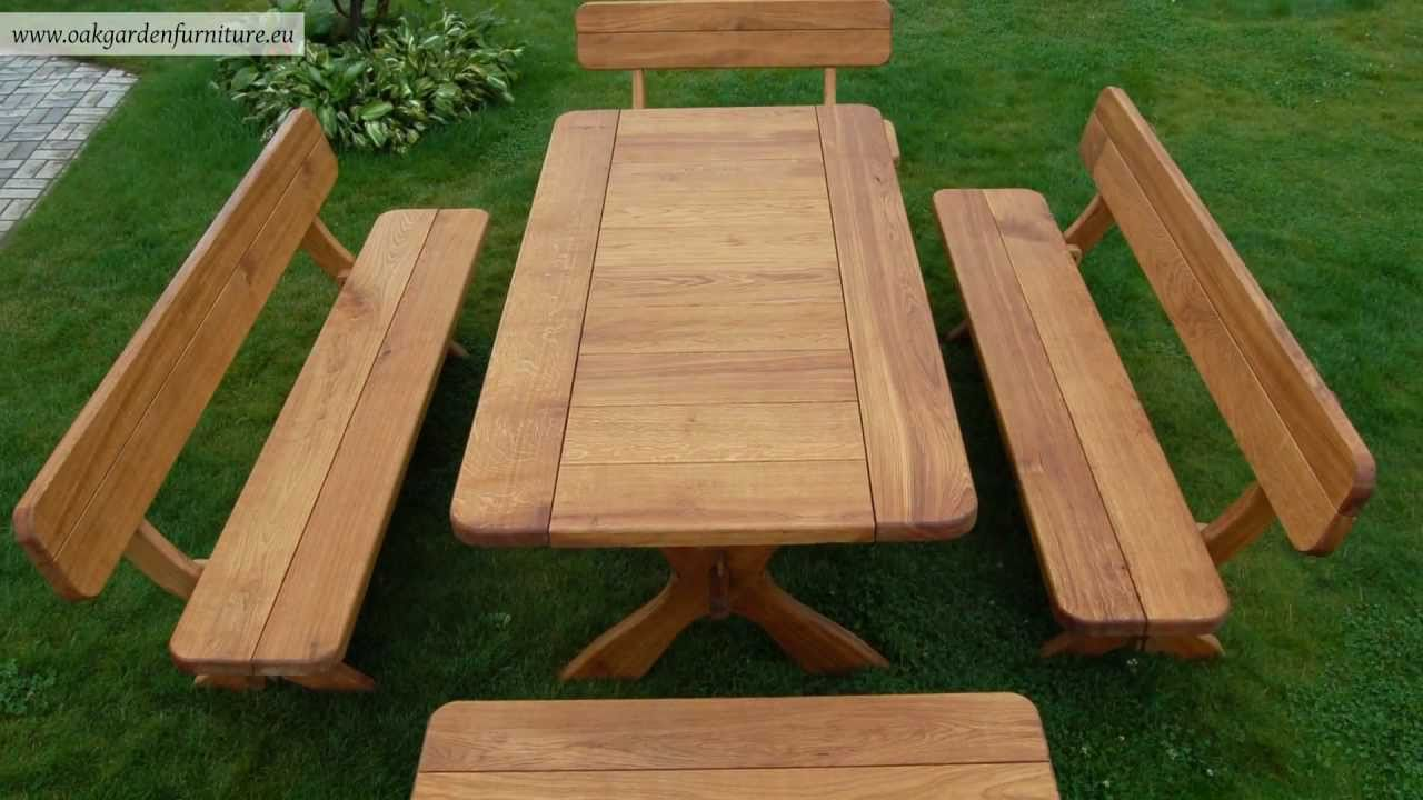 Wooden Garden Furniture wooden garden furniture set - youtube TLVEIPR