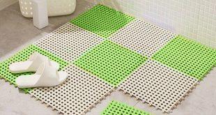 2018 new sale pvc bathroom carpet splice non-slip kitchen rugs solid  bathroom QKWVHKU