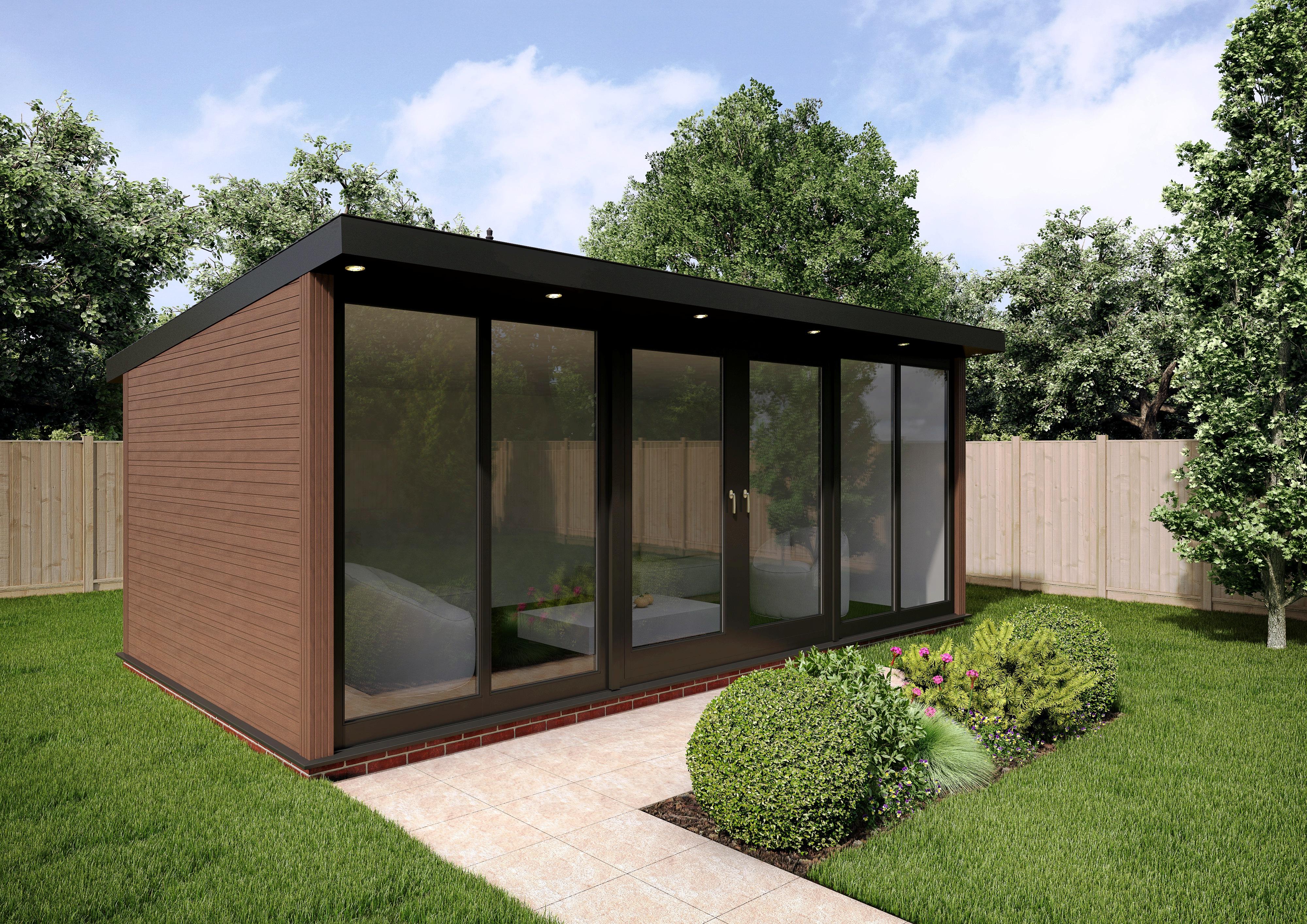 3m x 2.4m sherwood composite garden building QREBMZX