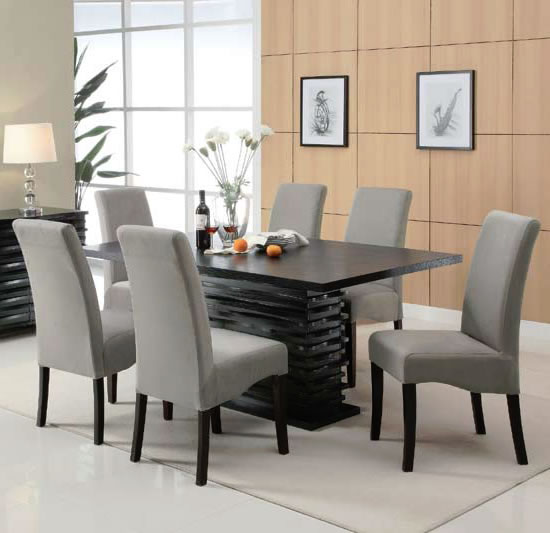 7 piece dining set contemporary dining furniture CEYSDQY