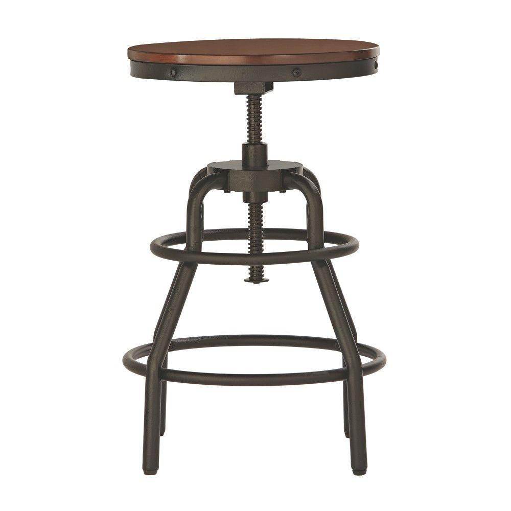 adjustable bar stools home decorators collection industrial mansard adjustable height black bar  stool EGWFSKU
