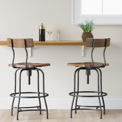 adjustable bar stools woodsboro adjustable barstool - threshold™ : target KJDQDIL