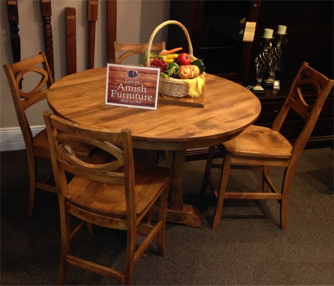 Amish furniture ... sheratonu0027s custom amish dinette table ... UNPPUVG