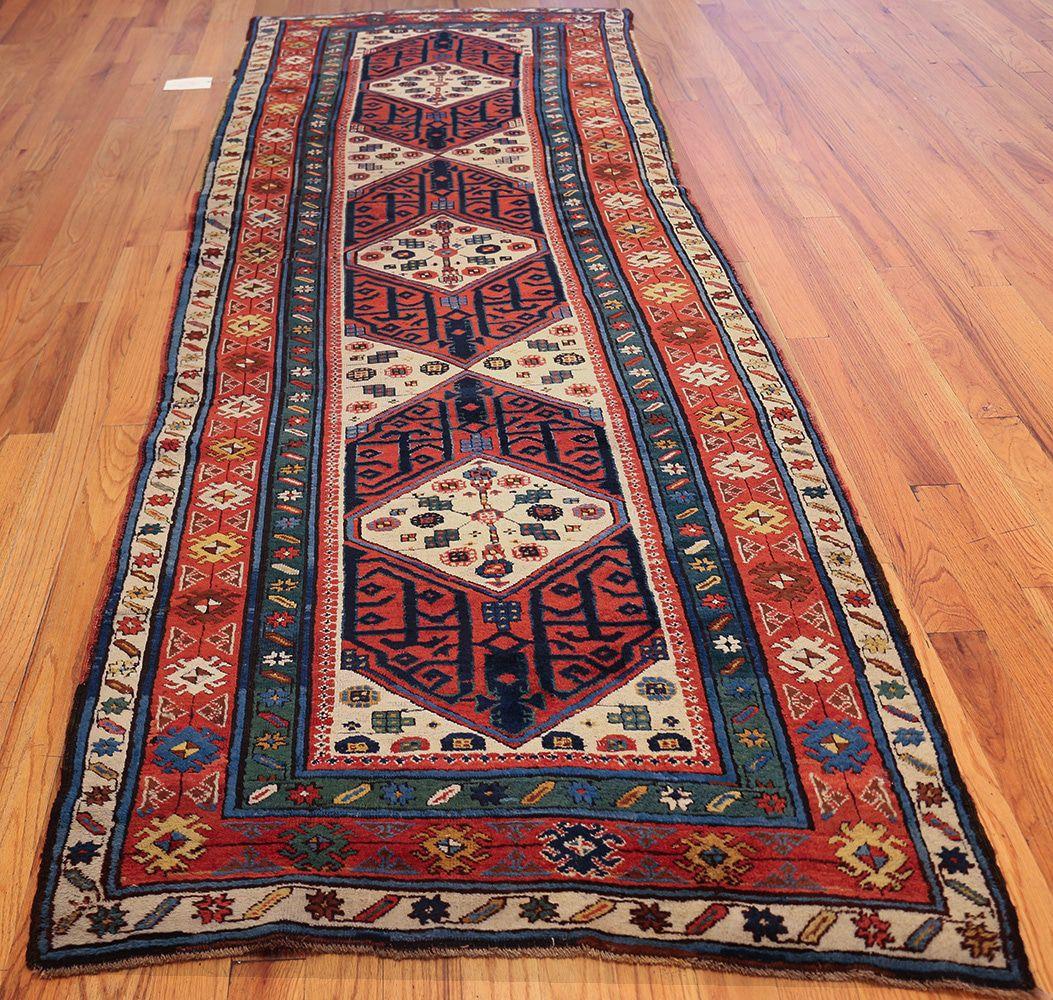 antique caucasian kazak runner rug 46425 whole nazmiyal HPYJSUV