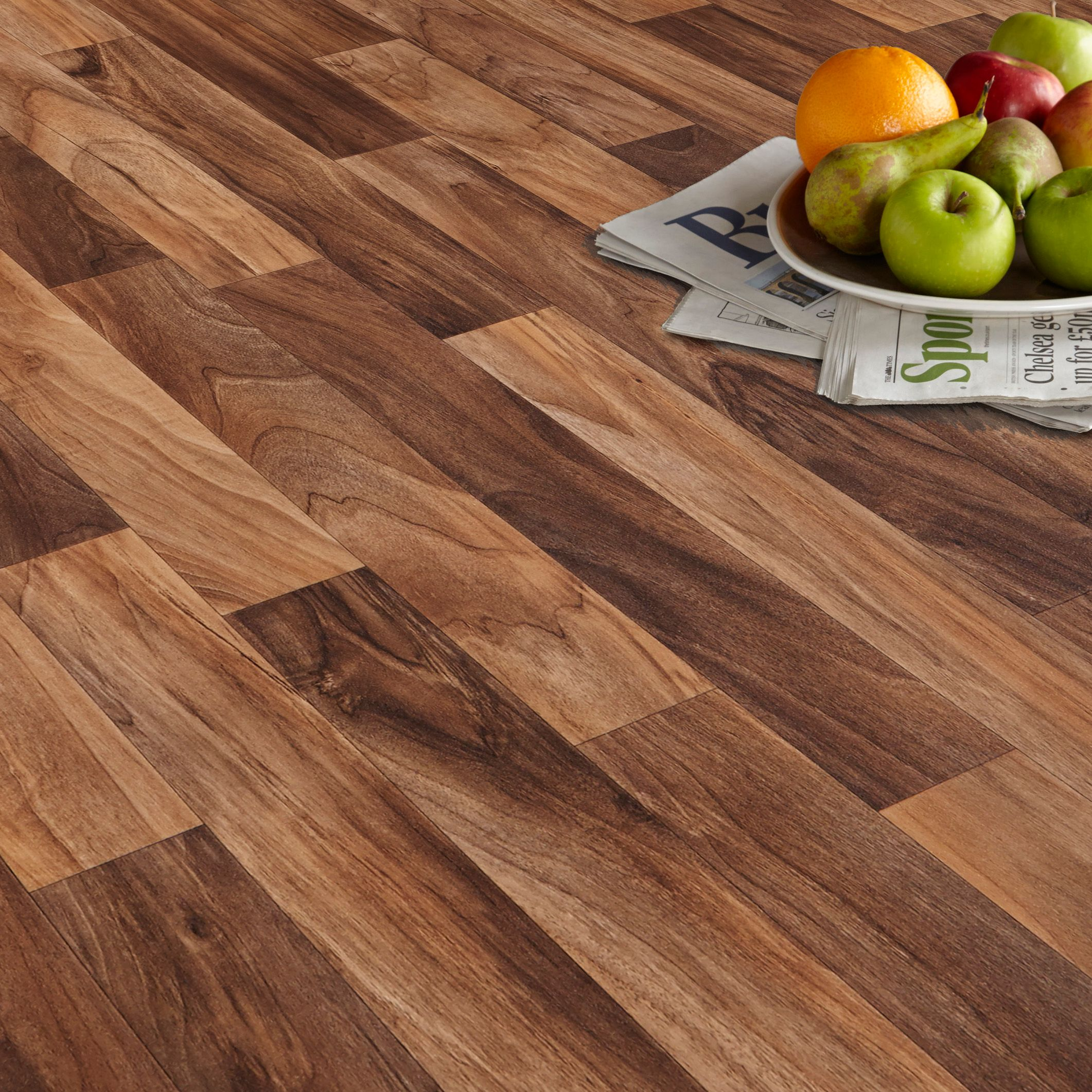 arezzo walnut effect matt vinyl flooring 6 m² | departments | diy at KXACFKD